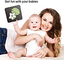 Upgraded 2020 TUMAMA Baby Black White Flash Cards Baby Toys Gift for 0 3 6 9 12 Months 80 Pcs Learning Alphabet Shapes Color Cards for Toddlers High Contrast Visual Stimulation Learning Flashcards