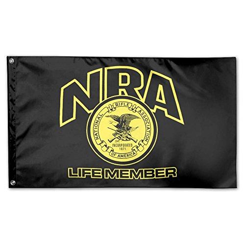 - UDSNIS NRA Life Member Garden Flag 3 X 5 Flag For Holiday Seasonal Decoration Banner Black