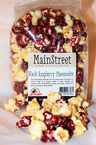 Black Raspberry Cheesecake Flavored Popcorn Old Fashioned Goodness 12 Ounce Bag