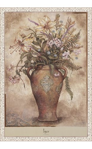 絶妙なデザイン Arnold x Iger – Fresco I Floral I by 24 Ornate x 39インチ – アートプリントポスター LE_71869-F9711-24x39 Ornate White Frame B01N5DCG4U, 君津市:b0de1ef7 --- a0267596.xsph.ru