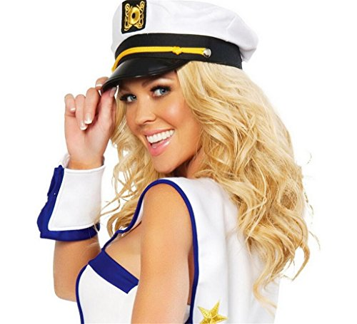 Womens Sailor Hat (GU Angqi New Unisex Mens Womens Yacht Captain Skipper Sailor Boat Cap Hat)