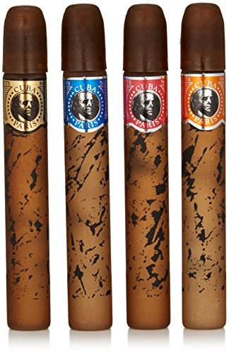 Cuba Classic For Men Gift Set (4 x 1.17 Ounce EDT - Plus Sampler Cigar