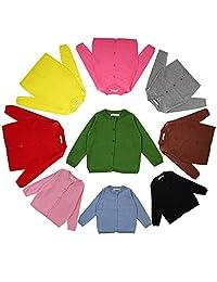 DaiLiWei Baby Girls 1-5T Cotton Knits Cardigan Button Sweaters Coat Jacket Outerwear