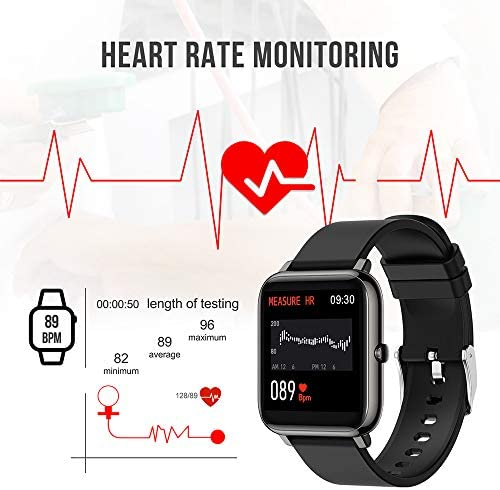Donerton Smart Watch, Fitness Tracker for Android Phones, Fitness Tracker with Heart Rate and Sleep Monitor, Activity Tracker with IP67 Waterproof Pedometer Smartwatch with Step Counter for Women Men 51A7fYijHaL