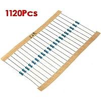 TOOGOO(R) 1120pz(1¦¸-10M ¦¸) 56 Valori 1 / 4W 0.25W 1% Resistori a pellicola metallica assortiti kit