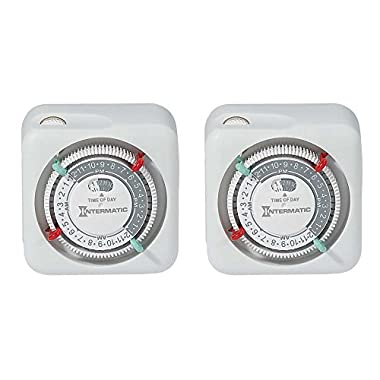 Intermatic TN111K-2PK Premium Indoor Timers, 2-Pack