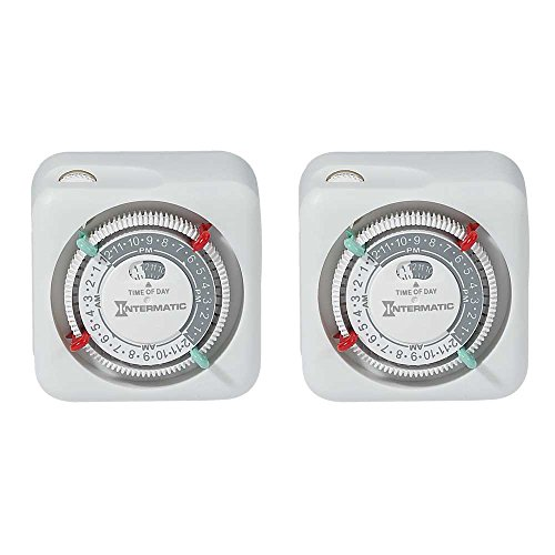 Intermatic TN111K-2PK Premium Indoor Timers, 2-Pack Intermatic Indoor Digital Wall Switch Timer