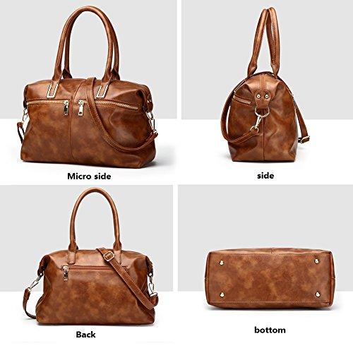 Bag Bag Handbag Big For Women Leather Bag Top Women Waterproof Capacity Messenger Shoulder Mynos Soft Lady Handbags Postman Black Tote Handle 8nHaHzx