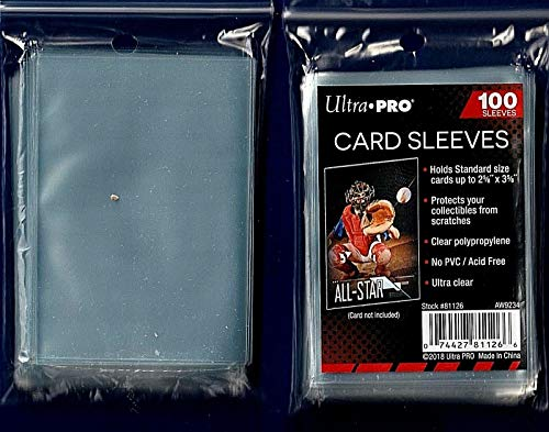 Ultra Pro 5 (Five) Pack Lot of 100 Soft