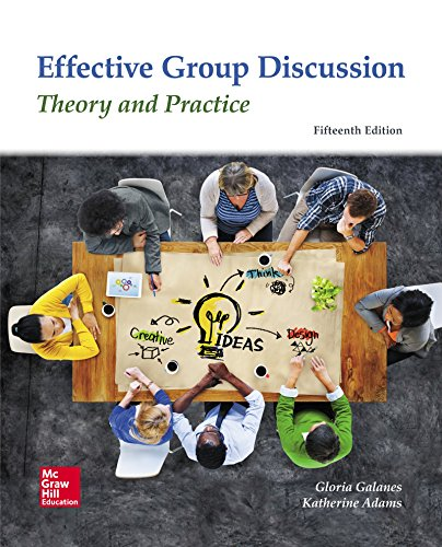 Looseleaf for Effective Group Discussion: Theory and Practice