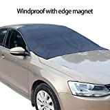 SUV Car Windshield Snow Cover Magnetic with Storage Pouch-Ultra Durable Weatherproof RAINPROOF Design- Sun/Snow Cover Shield Dust Protector Cover for SUV Car Truck RVS