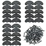 Best Shoe Glues - TOVOT 30 pcs Heel Plates Black Shoe Heel Review