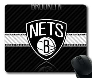 NBA Brooklyn Nets Logo Mouse Pad/Mouse Mat Rectangle by ieasycenter