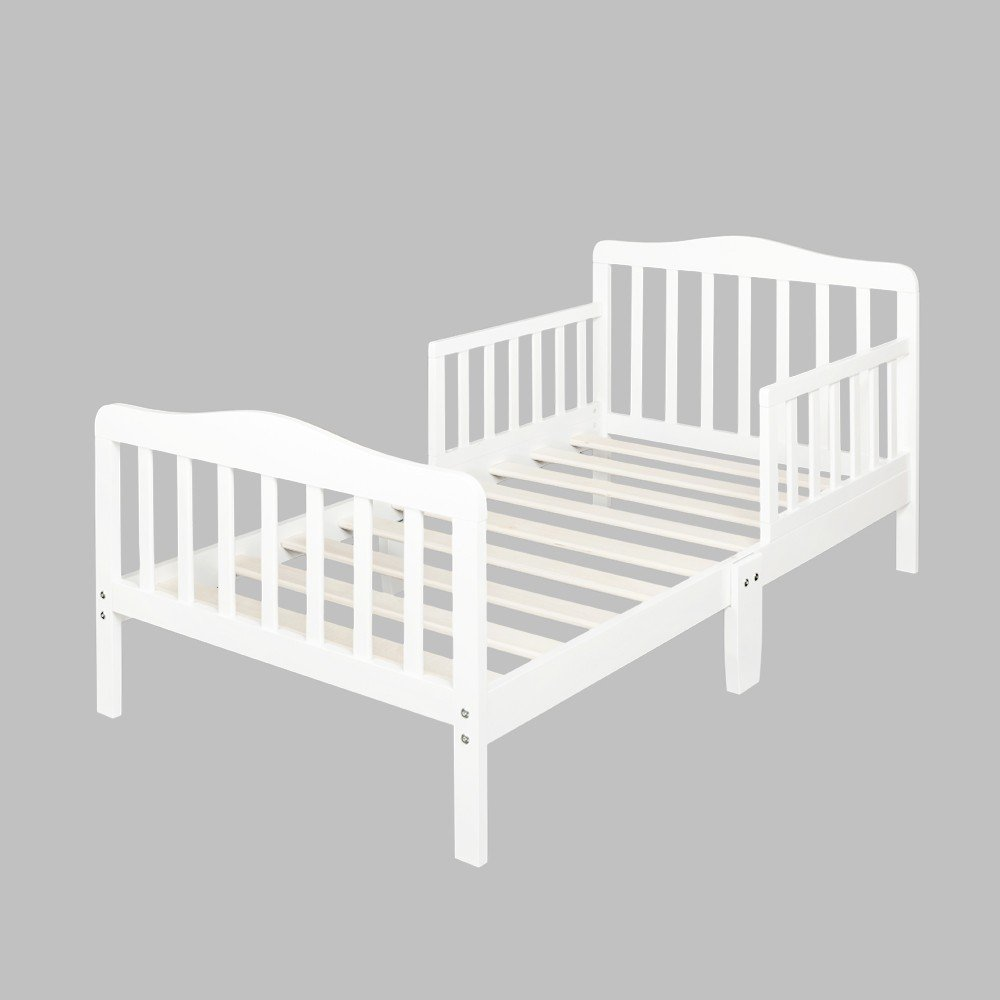 Wooden Baby Toddler Bed Children Bedroom Furniture with Safety Guaridrails