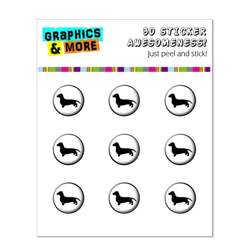 Graphics More Dachshund Button Stickers