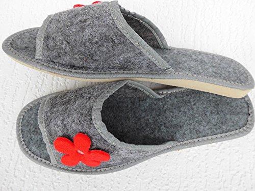 FILZ Pantoffeln - Hausschuhe, Gr.38 WOLLFILZ, Grau (2-12-1-97)