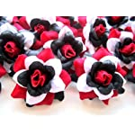 24-Silk-Red-Black-White-Roses-Flower-Head-175-Artificial-Flowers-Heads-Fabric-Floral-Supplies-Wholesale-Lot-for-Wedding-Flowers-Accessories-Make-Bridal-Hair-Clips-Headbands-Dress