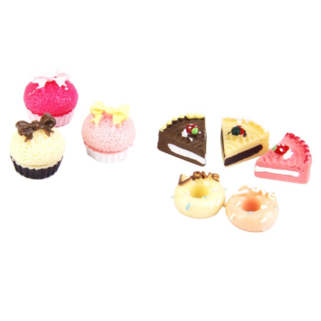 1/12 or 1/6 Dollhouse Miniature Food Cakes Different Tastes Set of 8pcs L-FENG-UK
