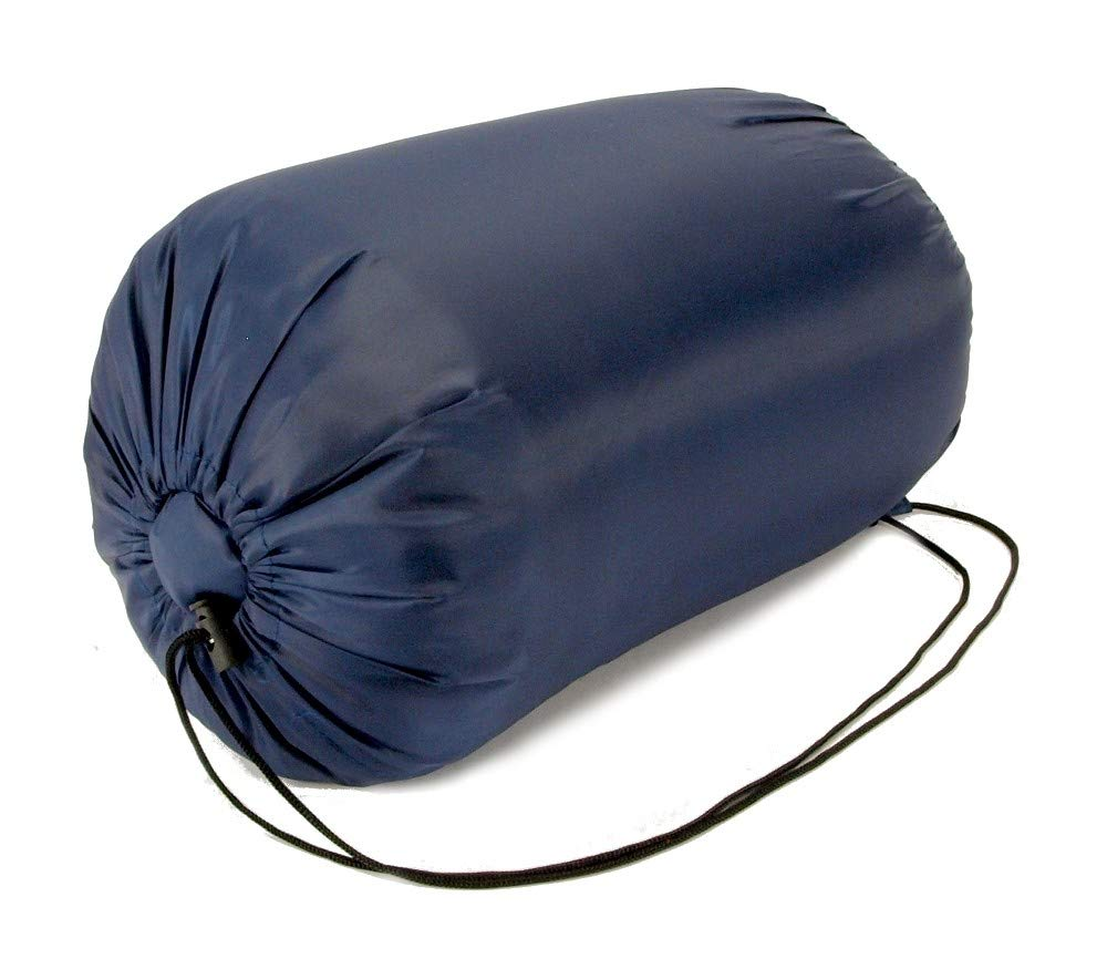 CAMPING GEAR 20+ Degrees NAVY BLUE Carrying Bag NEW by EDMBG SLEEPING BAG