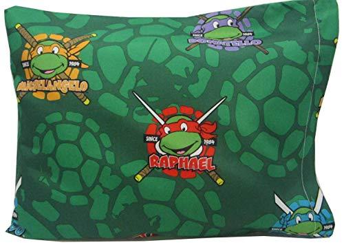 Toddler Pillowcase Teenage Mutant Ninja Turtles Size: 16x20 Fits Size 14x19 Pillow Kids Bedding -