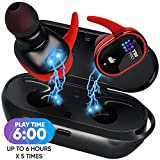 Upgraded True Wireless Earbuds - 30 Hours Total with Strong Bluetooth 5.0, IPX8 Waterproof TWS Stereo Headphones in-Ear Built-in Mic Headset Premium Sound with Deep Bass for Sport, Gym, Running