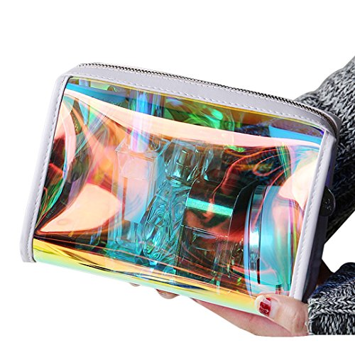 Hologram Laser Clutch Handbag Multifunctional Clutch Bag Makeup Bag (1 Hologram Laser)