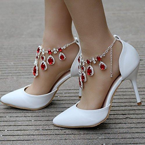 di partito di alto Qingchunhuangtang gules scarpe scarpe Scarpe Tacco Scarpe nozze vestono BOUcZ7Uny