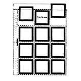 Matin Archival Slide Clear Sheets Sleeves for 6X6 6X4.5cm / 7x7cm Mounts - 100pcs