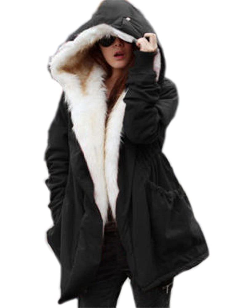 Aofur Women Military Winter Casual Outdoor Coat Hoodie Jacket Long Trench Parkas Aofur-238