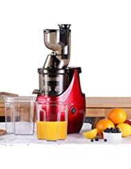 """Caynel Whole Slow Masticating Upgrade Cold Press Juicer Extractor Quiet Durable Motor, 3"""" Big Mouth Wide Chute with Extra Juice Bottle, Easy Cleaning Vertical Juicing Machine BPA Free"""