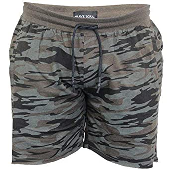 4d8237ad2d Brave Soul Mens Camo Jersey Shorts Crews Army Military Print Unfinished Hem  New: Amazon.co.uk: Clothing