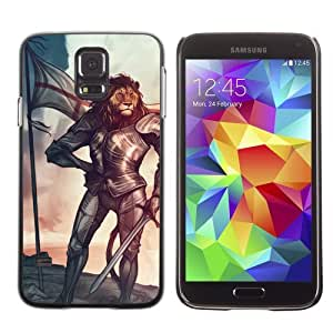 Designer Depo Hard Protection Case for Samsung Galaxy S5 / Tiger Knight