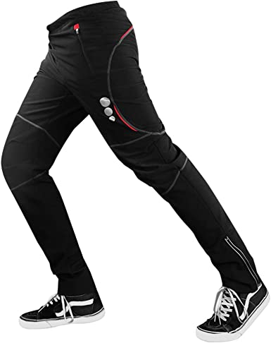 D Stil Pantalones Largos De Ciclismo Para Hombre Cortavientos Termicos Forro Polar Para Invierno Mtb Tallas S 2xl Otono Invierno Hombre Color Negro Tamano 2xl Taillenumfang 88 130 Cm Amazon Es Ropa Y