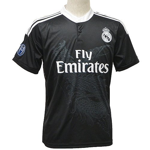 Real Madrid C.F. Short Sleeves Third Soccer Jersey 2014 Football Shirts (M)