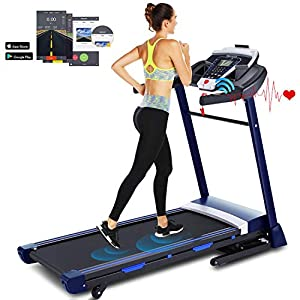 Well-Being-Matters 51A7kG%2BnWgL._SS300_ 3.25HP Ultra-Quiet Treadmill, Heart Rate Monitoring and Exercise Data Tracking, Suitable for Home and Office, let You…