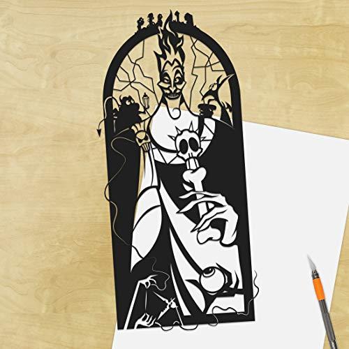 Hades, Hercules, UNFRAMED, Pain, Panic, Greek gods, Disney villain, greek mythology Greek Fates, paper cut art, silhouette -