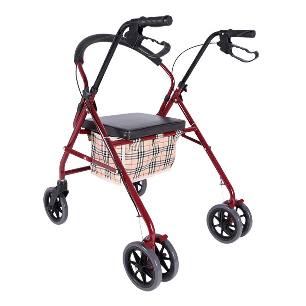 【保障できる】 座席が付いている頑丈なRollatorの歩行者、折る移動性の歩行の歩行者は6人の車輪 B07QV7F5CN、折る歩行者および年長者、高齢者及びハンディキャップのための輸送の椅子を備えています B07QV7F5CN, ハトムギ工房:0bbe667d --- a0267596.xsph.ru