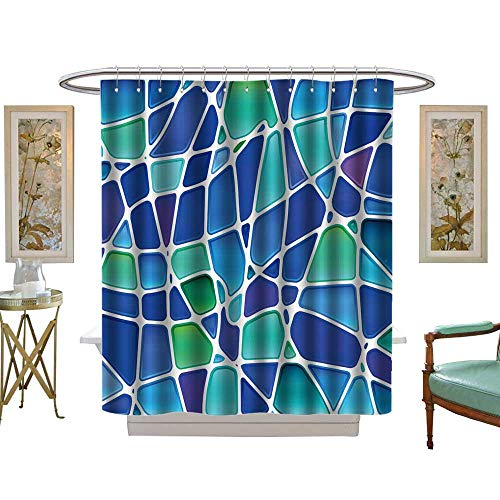Chicago Stained Bears Nfl Glass - luvoluxhome Shower Curtain Customized Abstract Stained Glass Mosaic W72 x L72 Patterned Shower Curtain