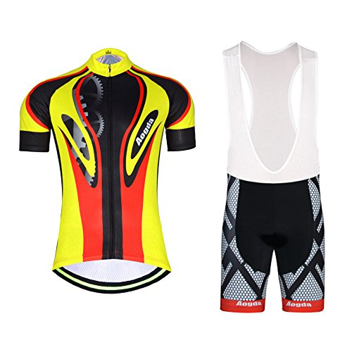 b59bf672072 ... 팬티 슬리브주기 Skinsuits 셔츠 D171 Men u2019s Aogda Cycling Jersey Summer Bib Shorts  Bicycle Racing Clothing Suit 3D Cushion Padded Shorts Sleeve cycle ...