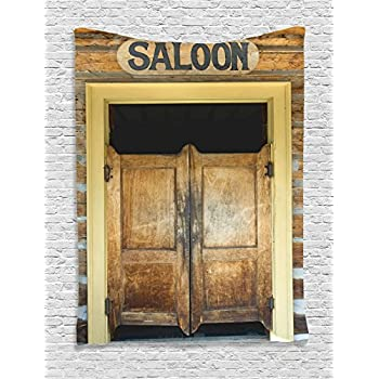 Ambesonne western decor collection rustic for Bar decor amazon