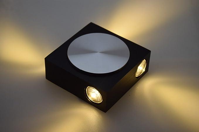 Moderno w led quadrato applique luce per camera da letto warm