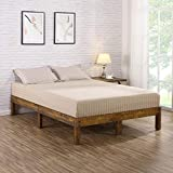 Cal King Bed Frame Dimensions Olee Sleep VC14SF01K 14 inch Solid Wood Platform Bed/Natural Finish, King, Brown