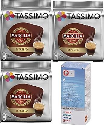 Tassimo Marcilla Expresso 48 cápsulas más 1 Descalcificador ...