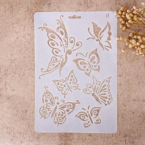 10 Portable Mini Size Nice Gift Walkretynbe Stencil/&Stamp Airbrush Painting Stencil DIY Template Home Decor Scrapbooking Album Craft Art