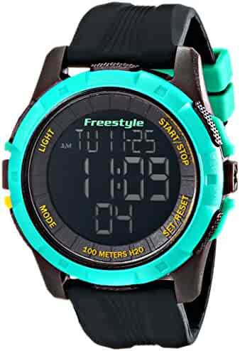 Freestyle Men's 10017006 Kampus XL Digital Black and Teal Watch