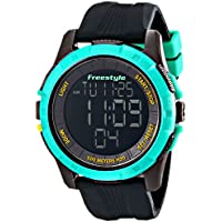 Freestyle Men's 10017006 Kampus XL Digital Black and Teal Watch