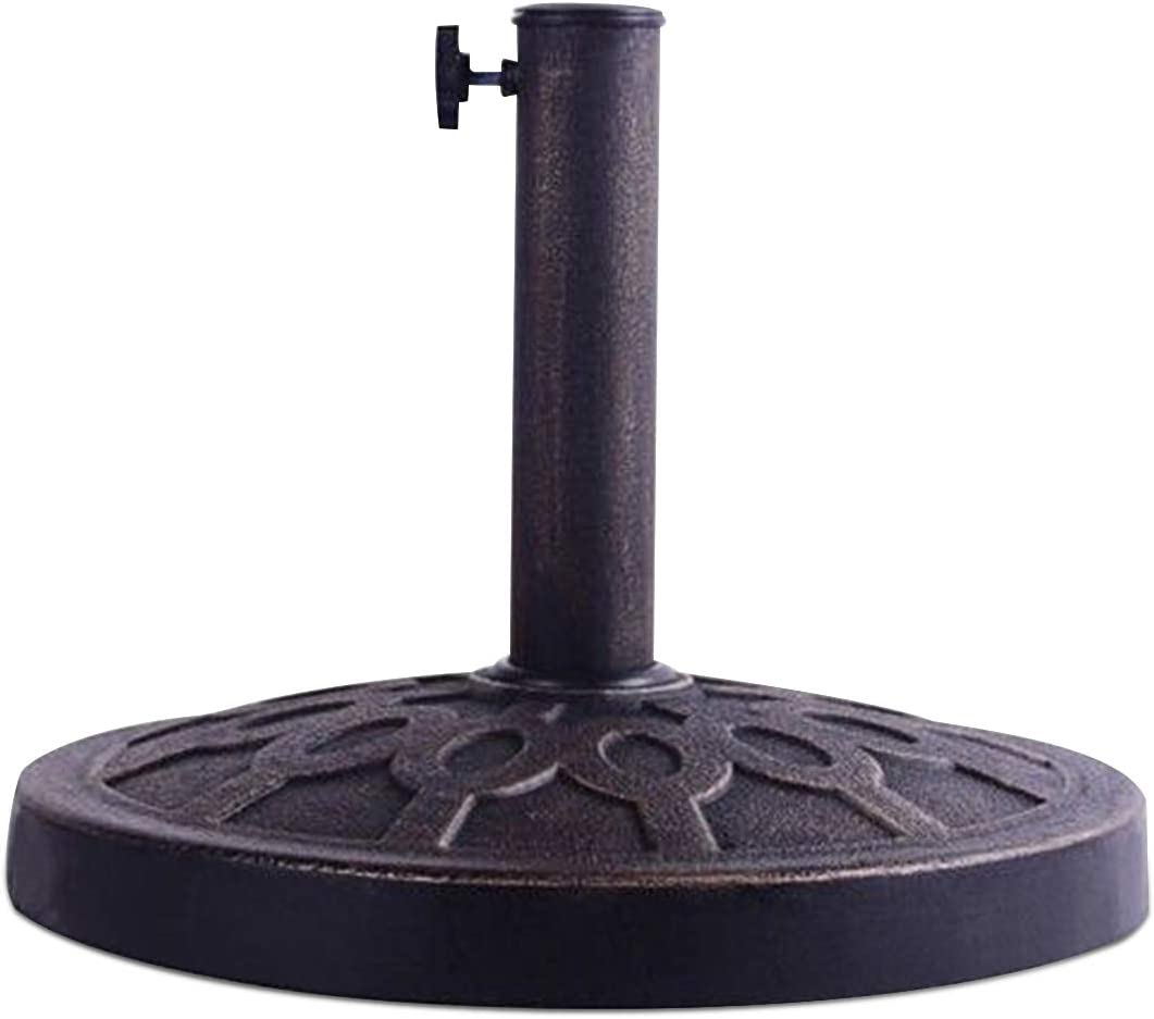 Giantex 30lbs Patio Market Umbrella Base, Heavy Duty Outdoor Stand, Cast Iron Umbrella Holder for Garden Beach, Classic Round Umbrella Standing Deck Porch