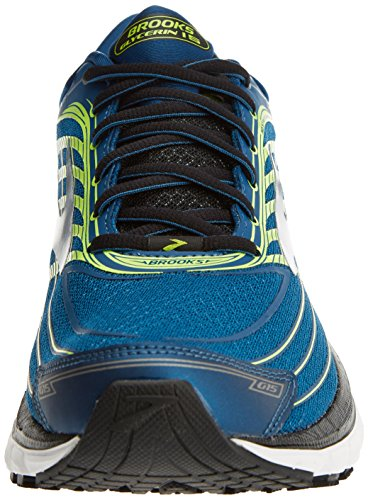 Brooks Men's Glycerin 15 Training Shoes, Silver/Black/Nightlife Multicolour (Blue/Lime/Silver 1d473)