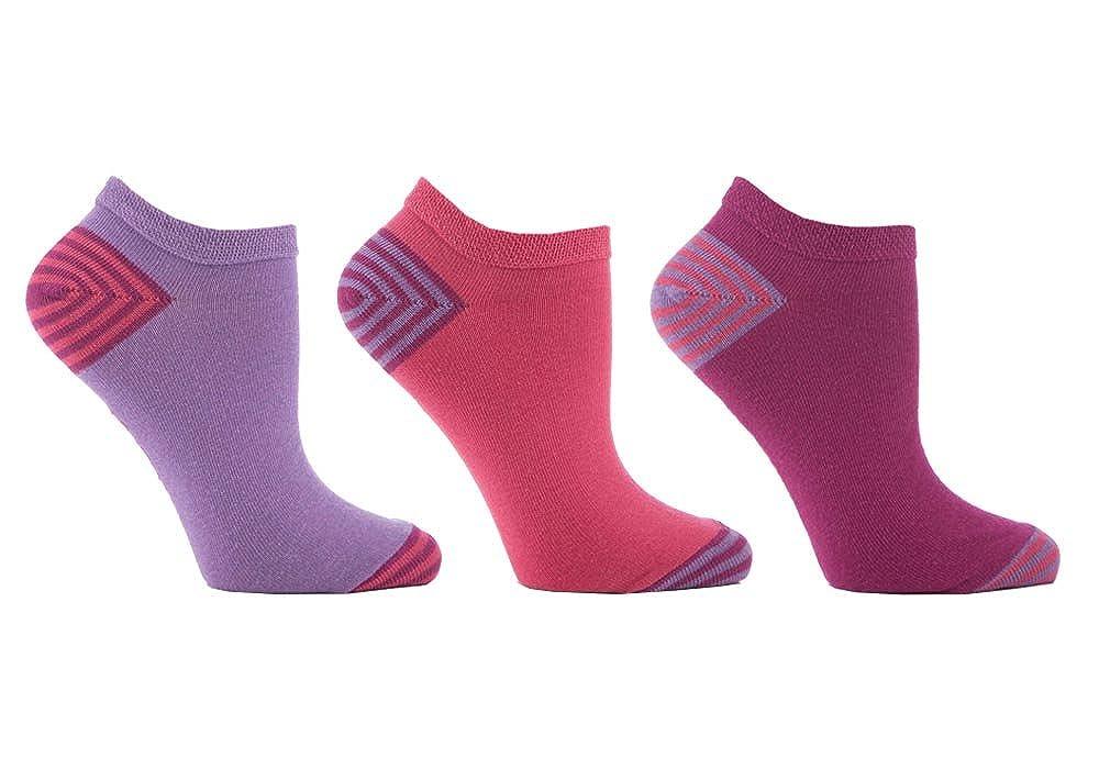 Jennifer Anderton - 6 paires femme quarter coton coloré basses courtes  chaussettes 072aacfa7ce