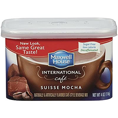 Maxwell House International Decaf Sugar Free Suisse Mocha Cafe,4 oz